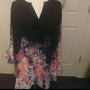Plus Size Multicolored Blouse